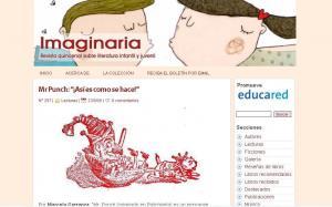 Así luce el sitio web de Imaginaria