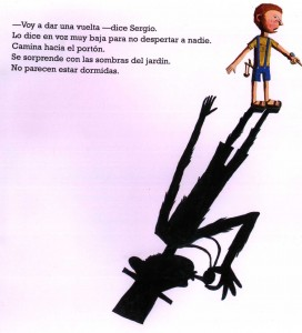 """Imagen extraída del libro """"Sombras"""" de Heinz Janisch con ilustraciones de Artem, del Grupo editor Norma"""