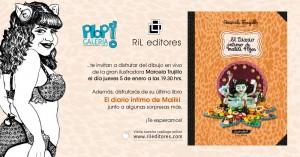 """Invitación lanzamiento del libro en """"Galería Plop!"""""""