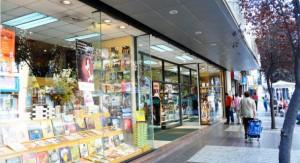 Entrada de una tradicional librería chilena, en pleno centro de Santiago