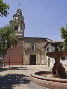 La iglesia se ubica en pleno centro de Santiago