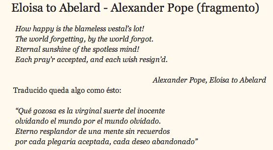 "Extracto del Poema ""Eloisa to Abelard"""