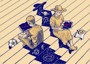 """""""Universo"""" Ilustración de István Orosz (1951)"""
