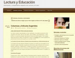 Home Page original del sitio, en julio del 2011