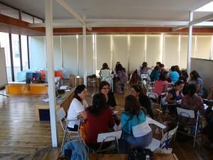 En otra de las sesiones, trabajando en grupo
