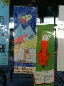 En el colegio de Paine los niños los niños diseñan sus propios marcapáginas