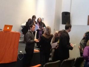 Al término de la actividad, los asistentes compartieron con la panelista