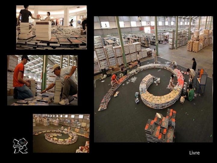 Numerosos voluntarios trabajaron durante su construcción, que duró 4 días