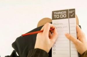 Las listas de cosas por hacer/cumplir son una herramienta muy útil para organizar el tiempo