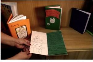 """Algunos de los libros de """"El Legado"""" hechos por los propios niños"""