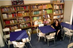 Vista parcial de la sala de lectura