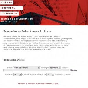Esta es la portada del sitio web que da la bienvenida a los usuarios del Archivo Digital del CEDOC