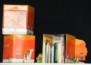 La caja del maetín literario permitía, al abrirla, armar un escenario para que los lectores echaran a volar su imaginación.